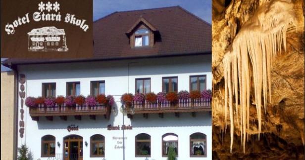 Barevný podzimní MORAVSKÝ KRAS mimo víkendy v hotelu Stará Škola*** 3 dny pro 2 s polopenzí a vstupenkami do jeskyní v malebné části Moravy jen za 2220 Kč až do 30.11.2016. Kousek do Brna.