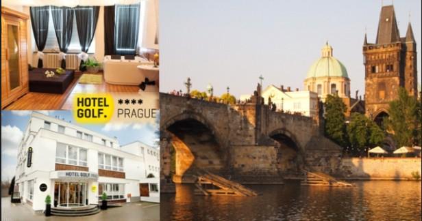 Praha s wellness: Hotel GOLF**** 3 dny pro 2 s vynikajícími snídaněmi a wellness procedurami až do konce března 2017. Jen kousek do centra tramvají.