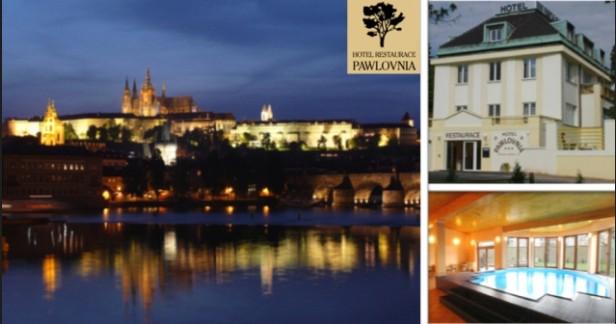 Jarní Praha až do 31.3.. Hotel Pawlovnia*** 3 dny pro 2 osoby se snídaněmi, vyhřívaným bazénem s protiproudem a fr. vínem jen za 2290 Kč. Dítě do 6 let zdarma.