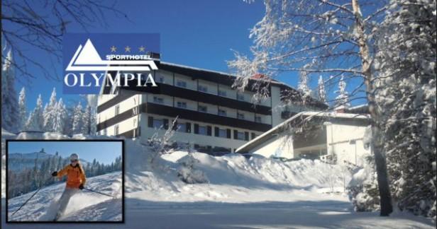 Bílá Šumava na Zadově: oblíbený Sporthotel Olympia*** 4 dny s polopenzí až do konce března za skvělou cenu 3998 Kč pro 2 vč. bezplatného fitness.