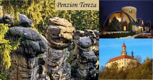 Náchodsko a Adršpašsko - jarní skalní města. Penzion Tereza s chutnou polopenzí a relaxem na 3 dny pro 2 až do konce dubna.