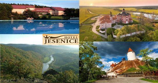 Jarní Křivoklátsko: Hotel Jesenice. Krásné ubytování, bohatá polopenze, konzumace vína v ceně, zmrzlinový bufet v ceně, balneo procedury a nádherná příroda a spousta památek v okolí jen za 3489 Kč až do konce května