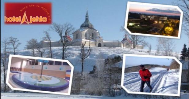 Vysočina - lyžovačka Hotel Jehla*** 4 dny pro 2 s polopenzí a relaxací za skvělou cenu 2999 Kč pro 2 až do konce dubna 2018.